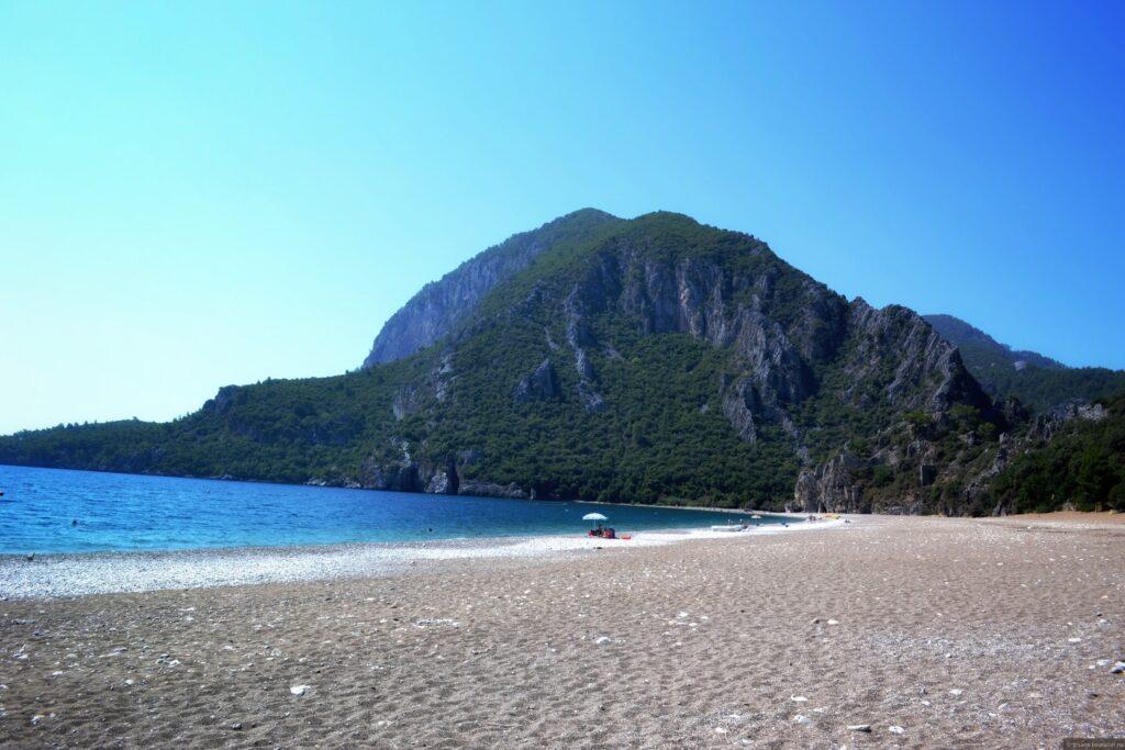 Пляж Капуташ, Каш