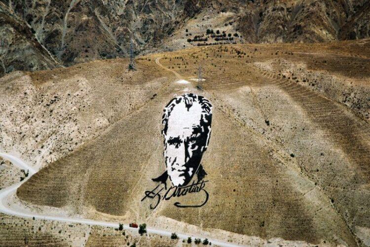 Портрет-геоглиф Мустафы Кемаля Ататюрка 1